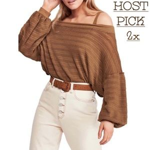 •FREE PEOPLE OFF SHOULDER SWEATER•